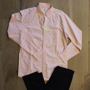 New UNIQLO Long Sleeve Dress Shirt